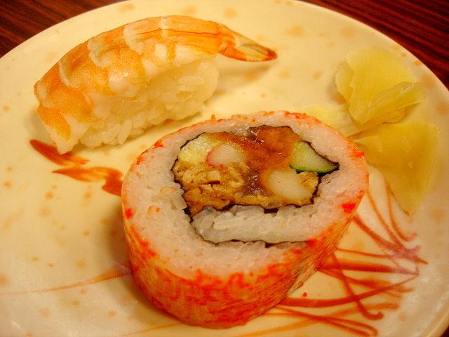定食裡的壽司