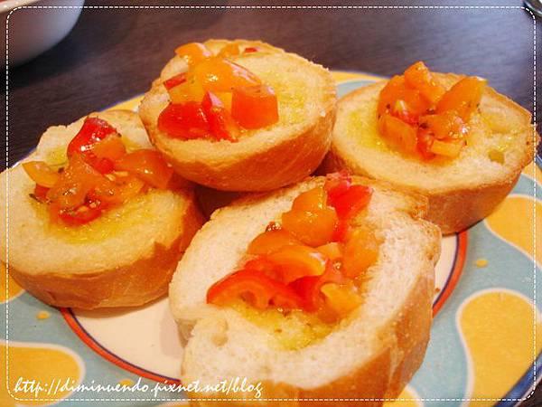 義式蕃茄麵包80元