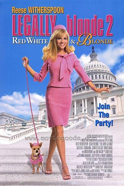 Legally Blonde 2:Red, White & Blonde,金法尤物2:白宮粉緊張,2003