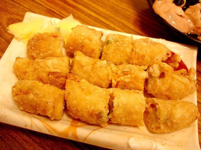 自製炸蝦捲70圓