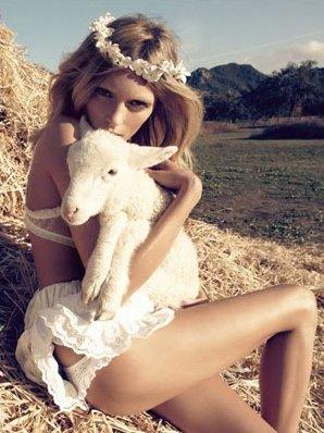 Anja Rubik Bride Vogue