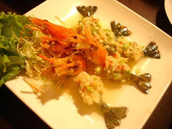 泰式涼拌生蝦,160元五隻