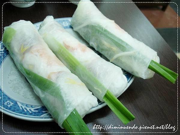 小菜類的涼拌春捲(3個)60元