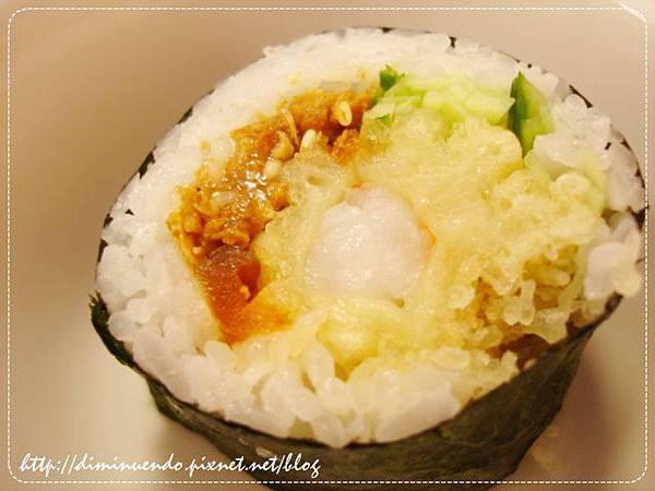 炸蝦壽司近拍