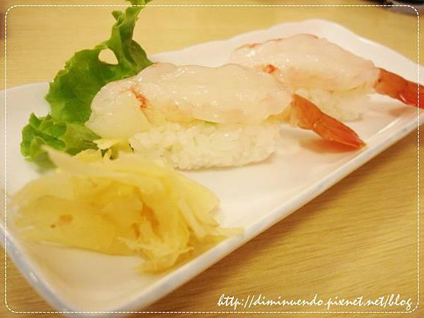牡丹蝦握壽司,反正是一尾80元,味增湯跟握壽司沒有分開算錢就對了