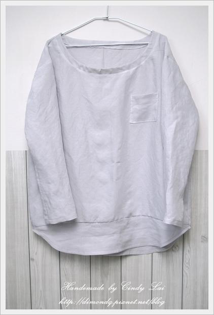 NO.2 淡藍天絲棉麻長袖衫