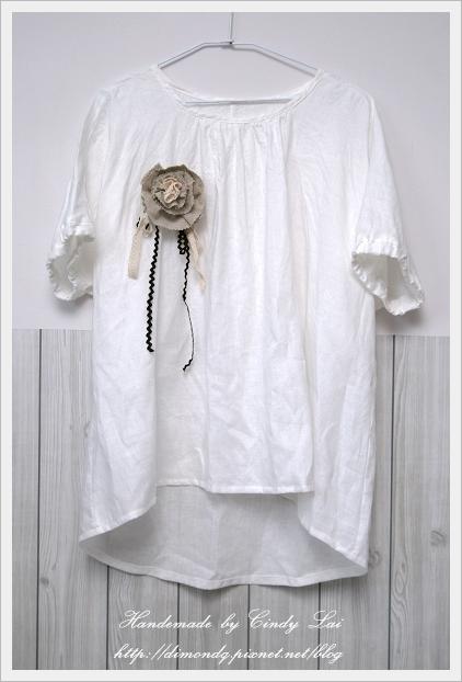 NO.1 亞麻束袖長版罩衫