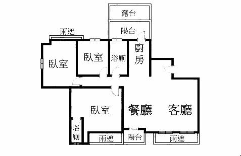 翰林苑C棟格局圖