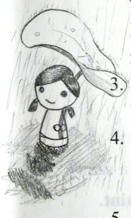 可愛大作-荷葉下的小女孩