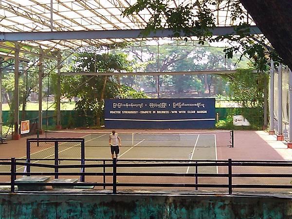 緬甸仰光的網球場