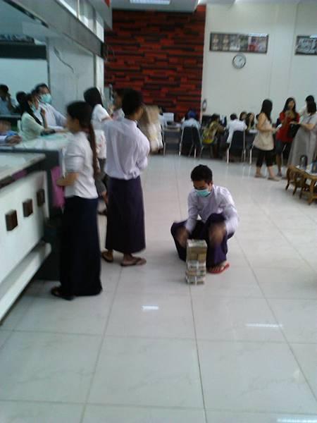 緬甸銀行的現在存提現況