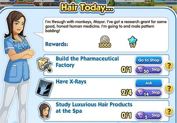 SimCity Social, Hair Today...