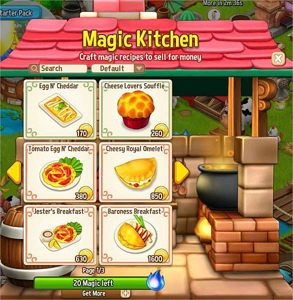Royal Story, Magic Kitchen
