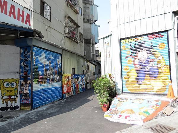 台中動漫彩繪巷(海賊王彩繪), 台中市, 西區, 林森路