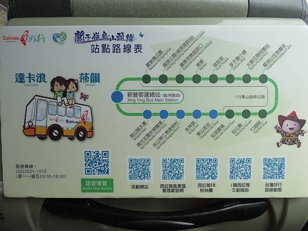 台灣好行關子嶺烏山頭線, 交通公車, 路線圖