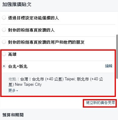 臉書 Facebook, 粉絲專頁, 付費推廣, 廣告受眾, 加強推廣貼文