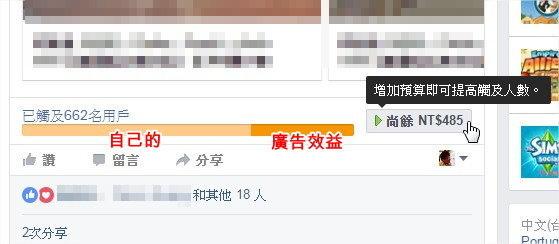臉書 Facebook, 粉絲專頁, 付費推廣, 刊登中