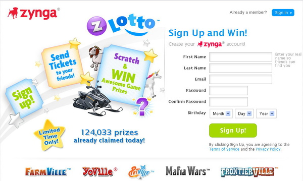 Zynga, Lotto