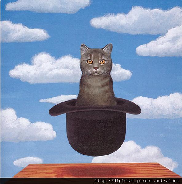 比利時超現實主義馬格利特貓