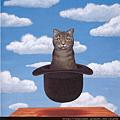 比利時超現實主義大師瑪格麗特風貓咪