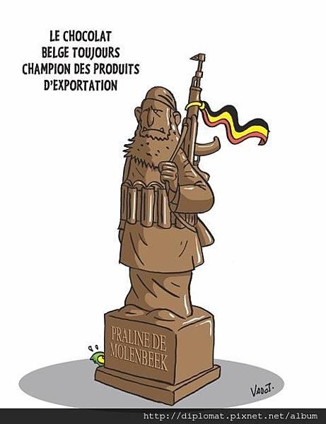 比利時巧克力最新造型 - 莫倫貝克的伊斯蘭聖戰士