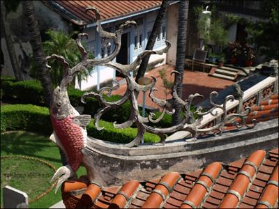 赤崁樓屋簷雕花-鯉魚