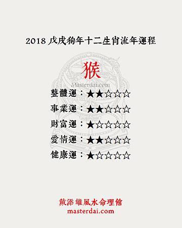 2018十二生肖09猴