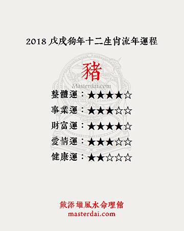 2018十二生肖12豬