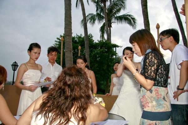 婚禮前的開會