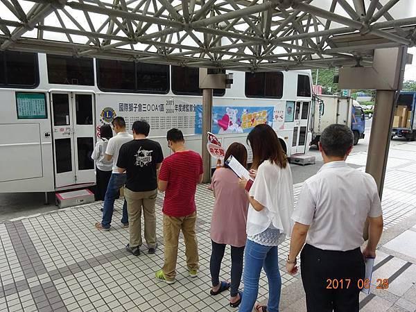 台北公益活動-6/28民眾前往汐科據點捐血