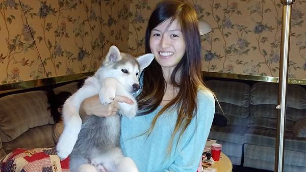 Tesia and her dog - Haku