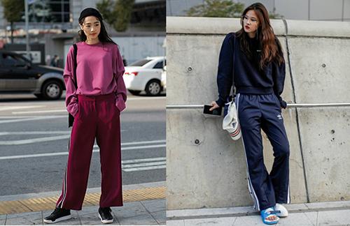 2018春夏流行色-線條運動褲