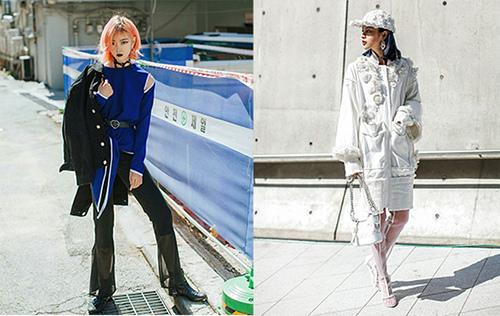 2018春夏流行色-拼接薄紗