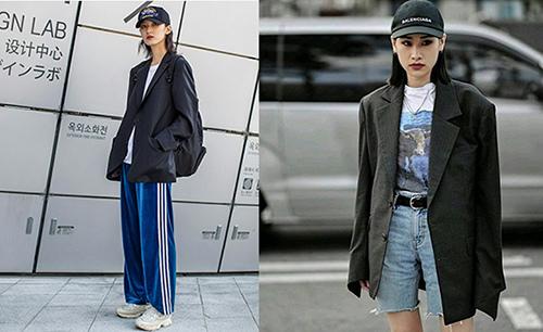 2018春夏流行色-oversize黑色西外套