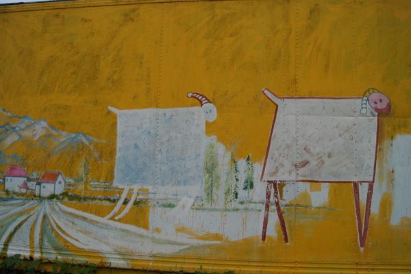 貨櫃上的塗鴉