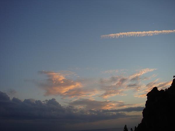 回程路上可愛的夕陽雲.JPG