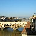 佛羅倫斯的烏菲茲美術館內唯一可以拍照的地方,窗外的景色-1.JPG