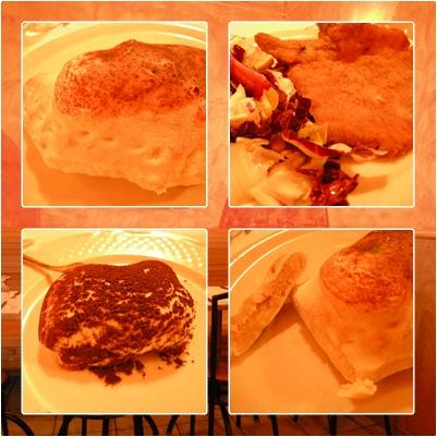 第五天 米蘭晚餐 比薩盒子+米蘭式炸肉排+提拉米酥(超級好吃).jpg