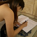 writing the guest book