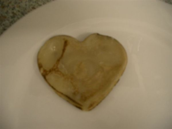 the first heart-shaped pancake