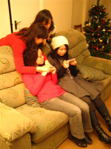 girls were checking the photos