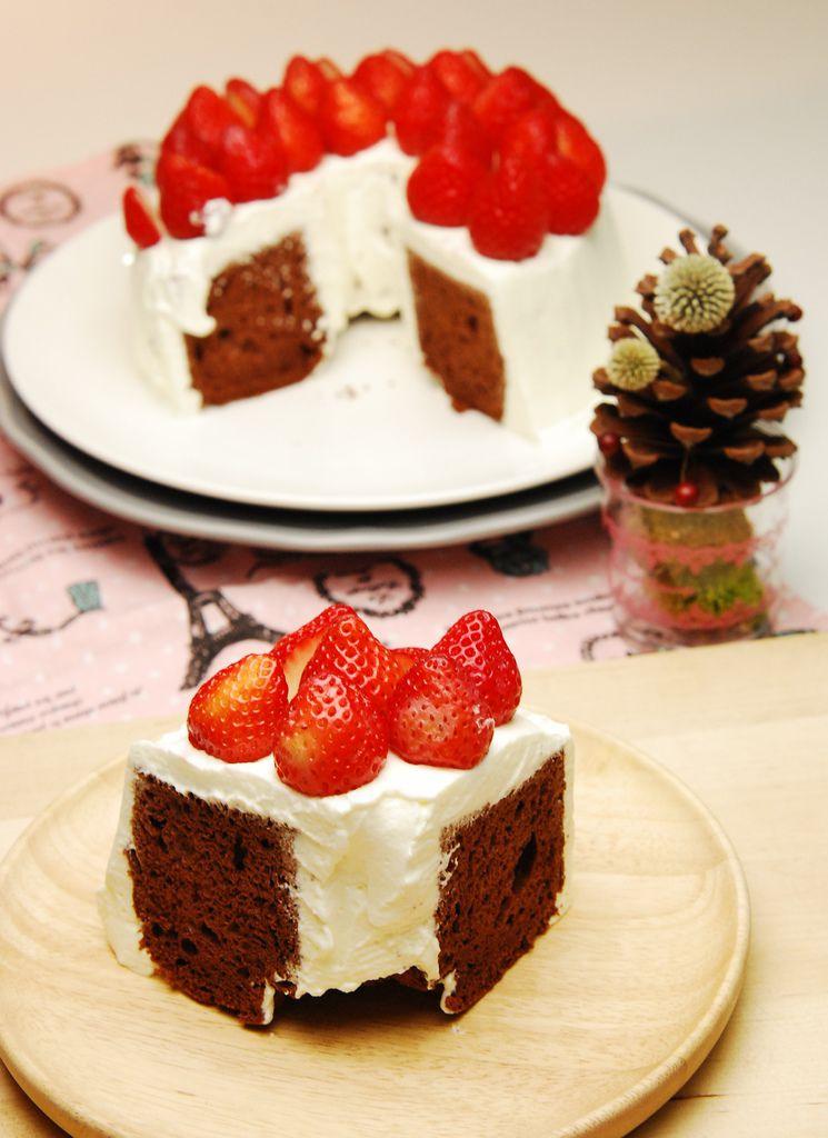 巧克力鮮奶油草莓戚風-4