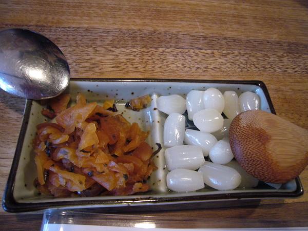 可怕的小菜 蒜頭跟醬菜