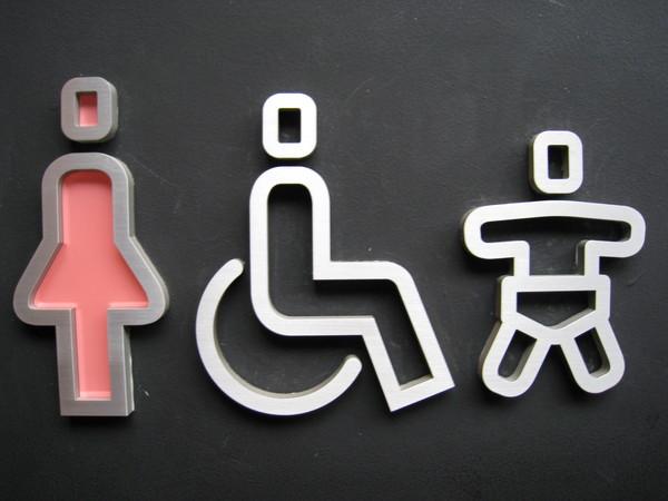 廁所外的圖示