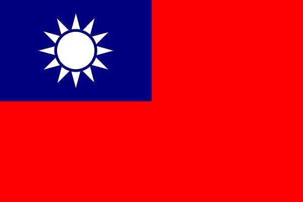 小畫家自畫的國旗600x400