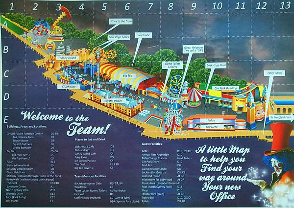Guide Map_Luna Park Sydney
