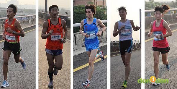 2012臺北國道馬拉松,充滿熱氣的柏油路 (3)