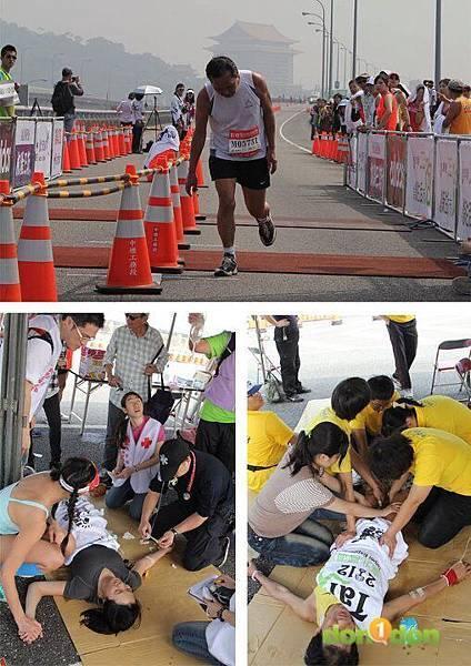 2012臺北國道馬拉松,充滿熱氣的柏油路 (19)
