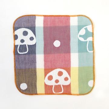 口水巾+手帕夾組-蘑菇1