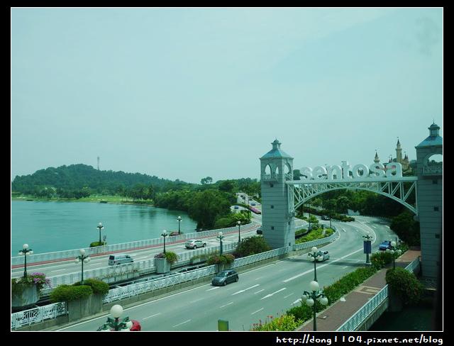 新加坡聖淘沙。英比奧捷運站。魚尾獅塔